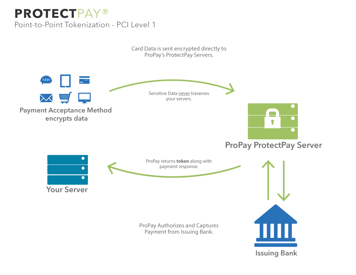 Protectpay tokenization payment security solutions propay propay also supports ecommerce merchants through its proprietary secure payment integration spi and payment management interface pmi solutions pooptronica