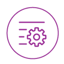 Purple Cog Icon